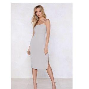 Grey Beat 'Em Fair and Square Dress